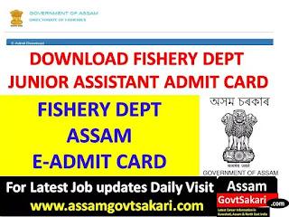 Fishery Dept Assam Exam Notice 2019