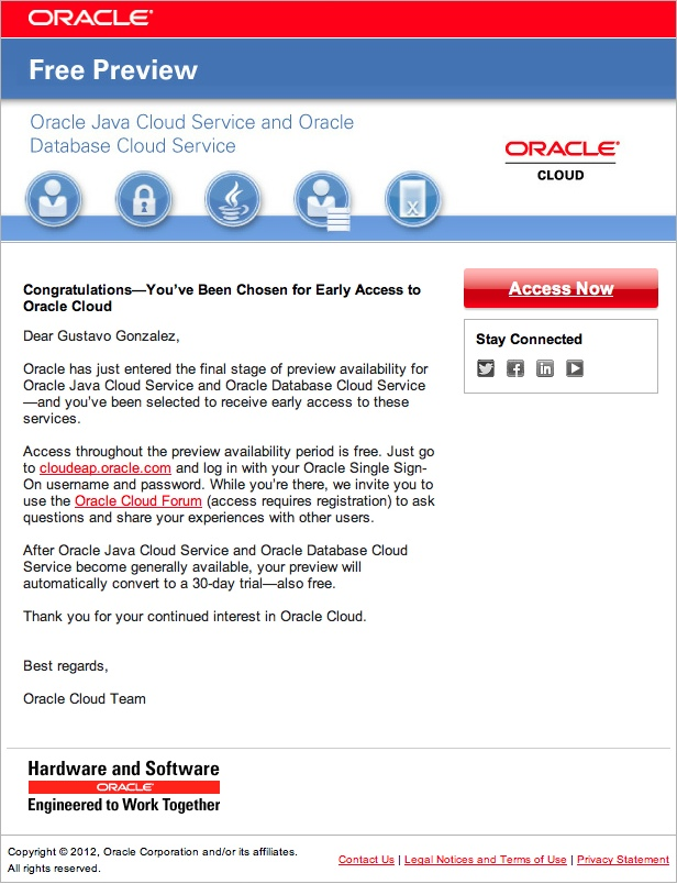 IT Convergence Becomes Oracle Public Cloud Tester - IT