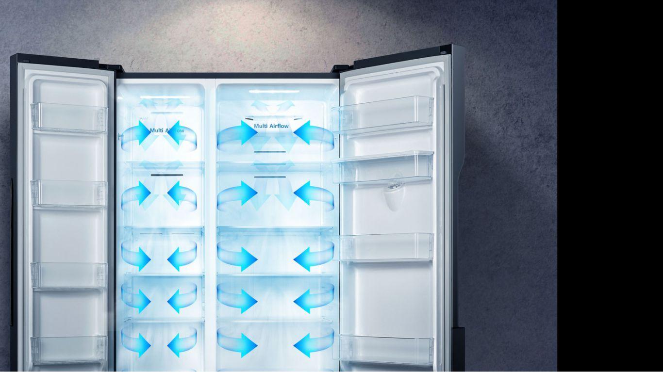 Ướp lạnh hoàn hảo từng góc nhỏ trong Tủ lạnh Casper RS-575VBW