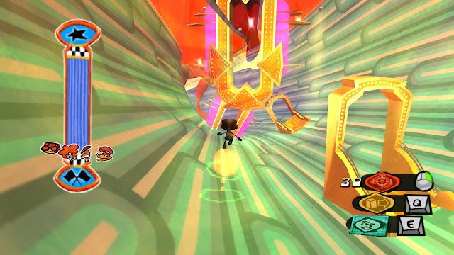 Screenshot of Milla's level in Psychonauts