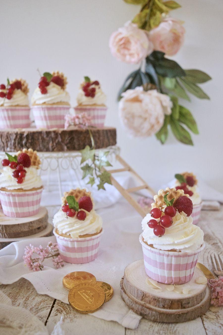 Cupcakes de almendra y amaretto con crema de mascarpone