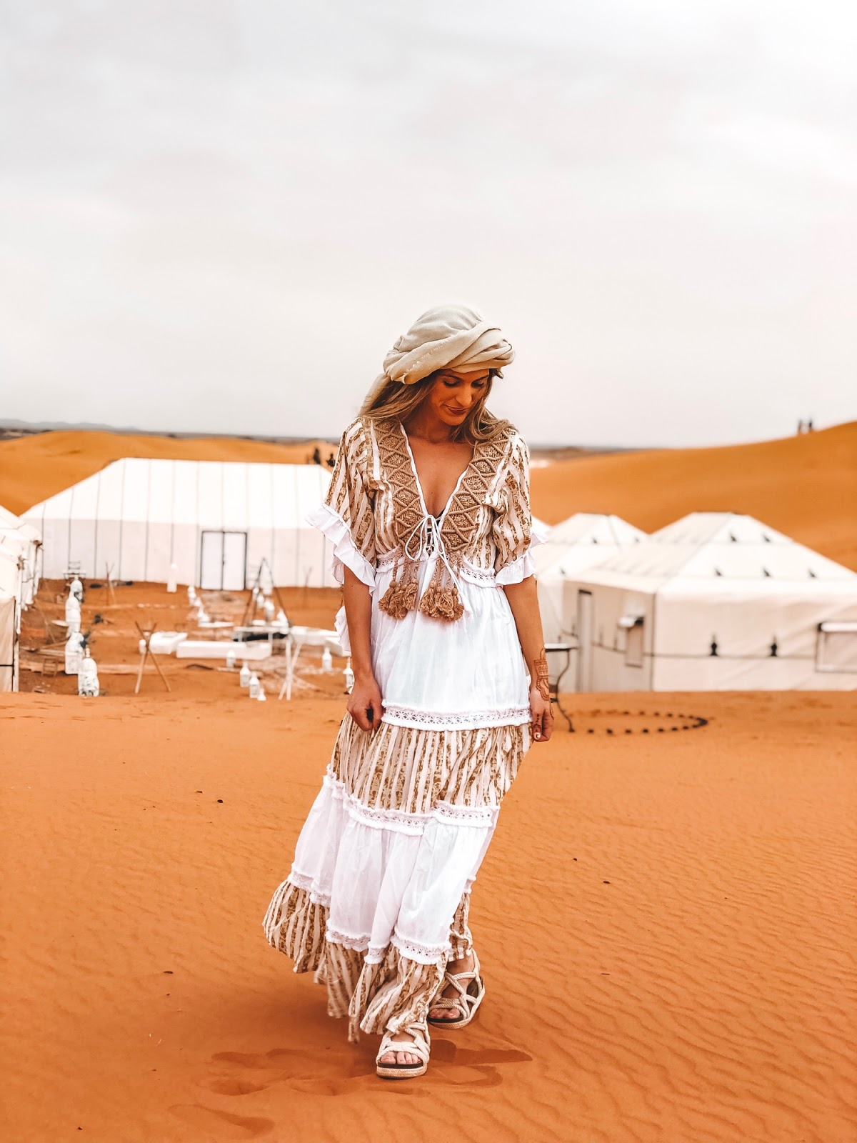 vestido largo boho blanco