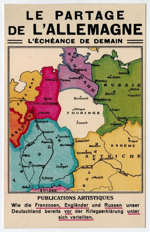 Deutsche Karte Vor Dem 1 Weltkrieg.Landkartenblog Le Partage De L Allemagne Deutsche