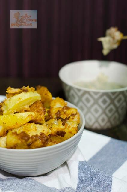 receta de las patatas rebozadas con ajo2