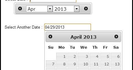 Show only Month and Year in only one jQuery UI DatePicker in case of