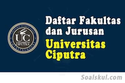 daftar fakultas dan jurusan universitas ciputra