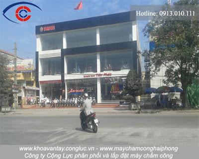 Lắp đặt máy chấm công tại Yamaha Tiến Phát, Trần Tất Văn, An Lão, Hải Phòng.