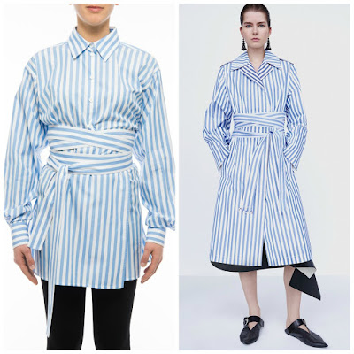 Celine cotton striped blouse princess charlene