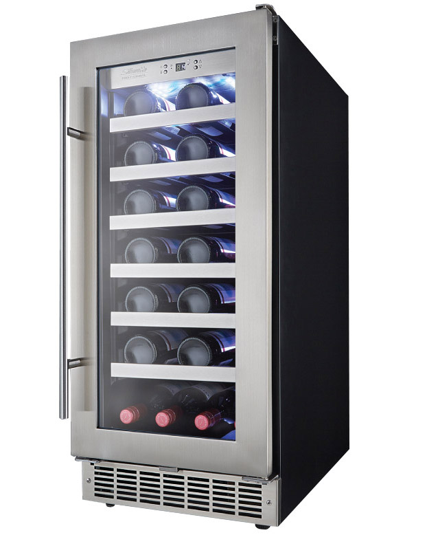 Counter Height Wine Cooler : Kitchen: 18 INCH WIDE UNDER COUNTER BEVERAGE COOLER