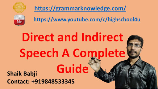 Direct and Indirect Speech A Complete Guide
