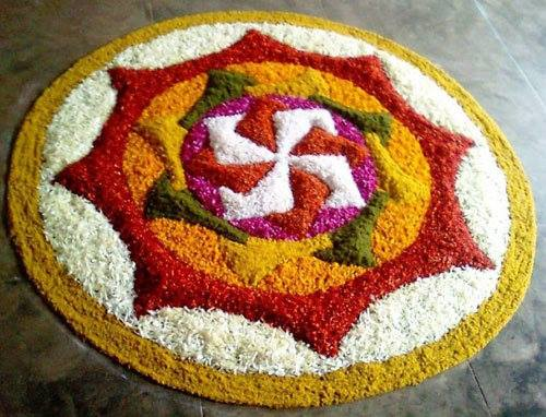 Simple Rangoli for Diwali 8