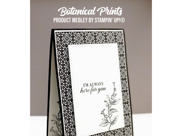 Maui Achievers Blog Hop January 2020   Botanical Prints Product Medley in Monochrome
