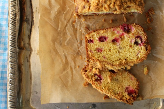 Cranberry Streusel Quick Bread