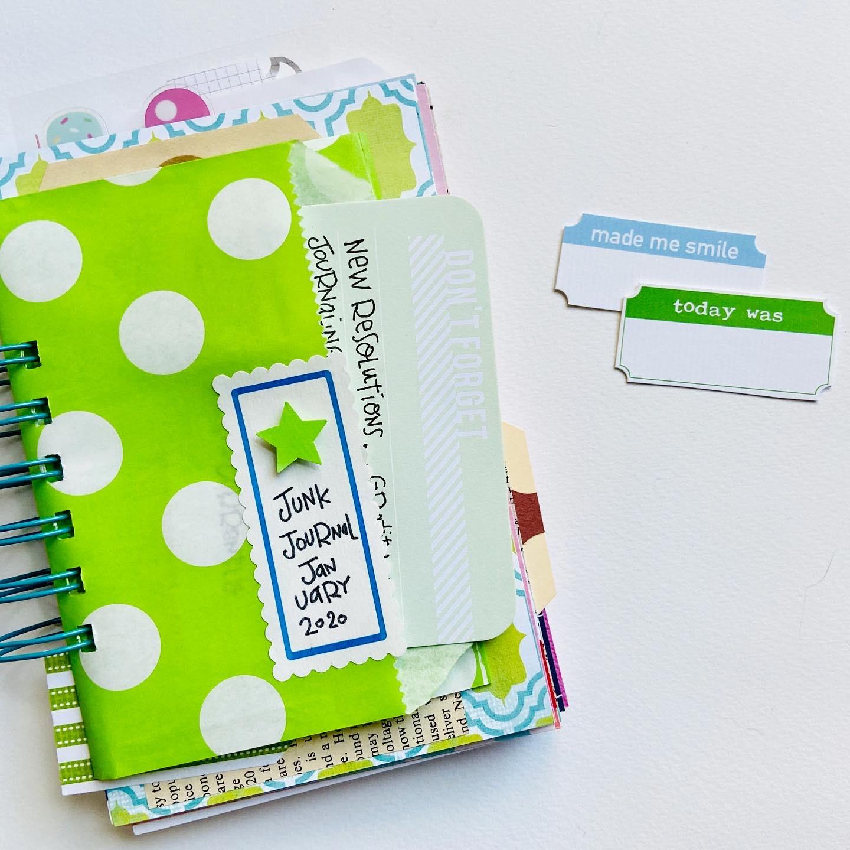 #junkjournaljanuary #junk journal #junk journal january #junk journaling #art journaling #mini book #printables #labels #mixed paper journal