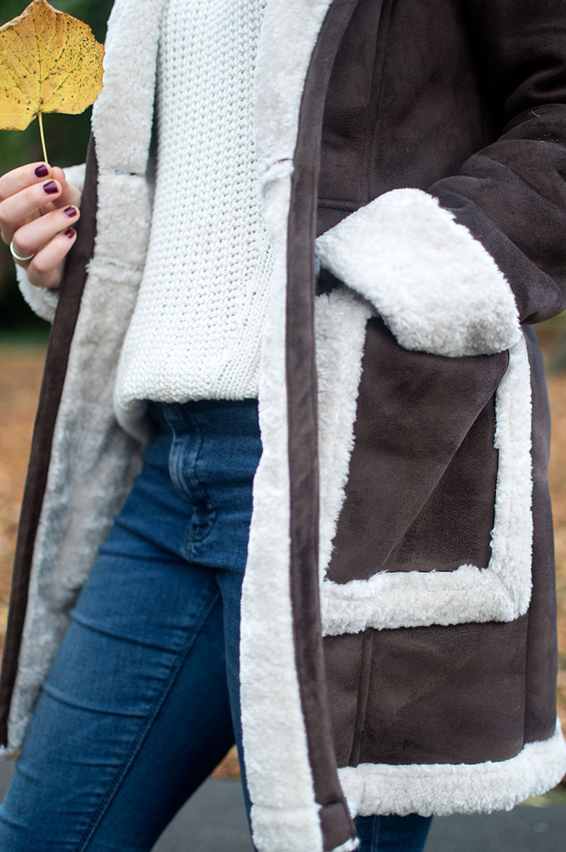 How to wear ASOS Shearling Coat