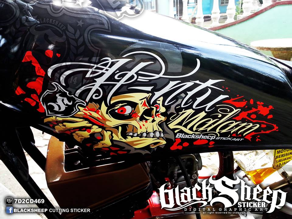 rx king cutting sticker  BlackSheep sticker