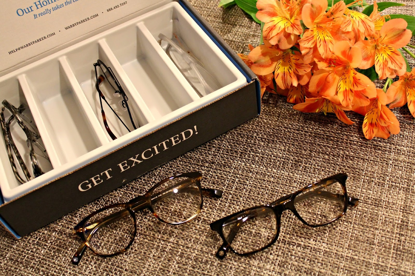 home try on with warby parker