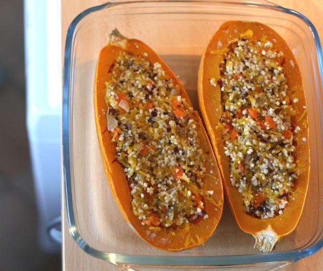 recette végétale vegan courge farcie en gratin automne au four