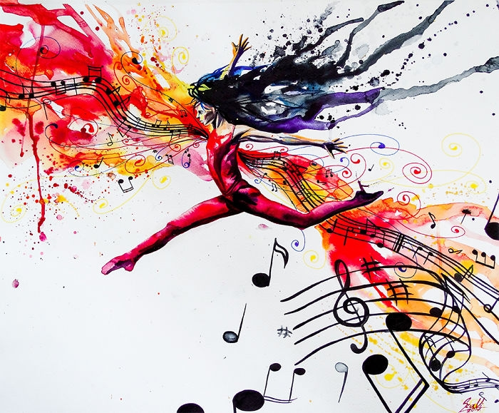 05-Sheet-Music-Vivien-Szaniszlo-Movement-Captured-with-the-Dancing-Ballerina-Paintings-www-designstack-co