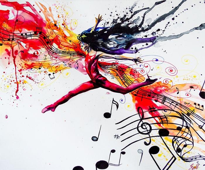 05-Sheet-Music-Vivien-Szaniszlo-Movement-Captured-with-the-Dancing-Ballerina-Paintings-www-designstack-co