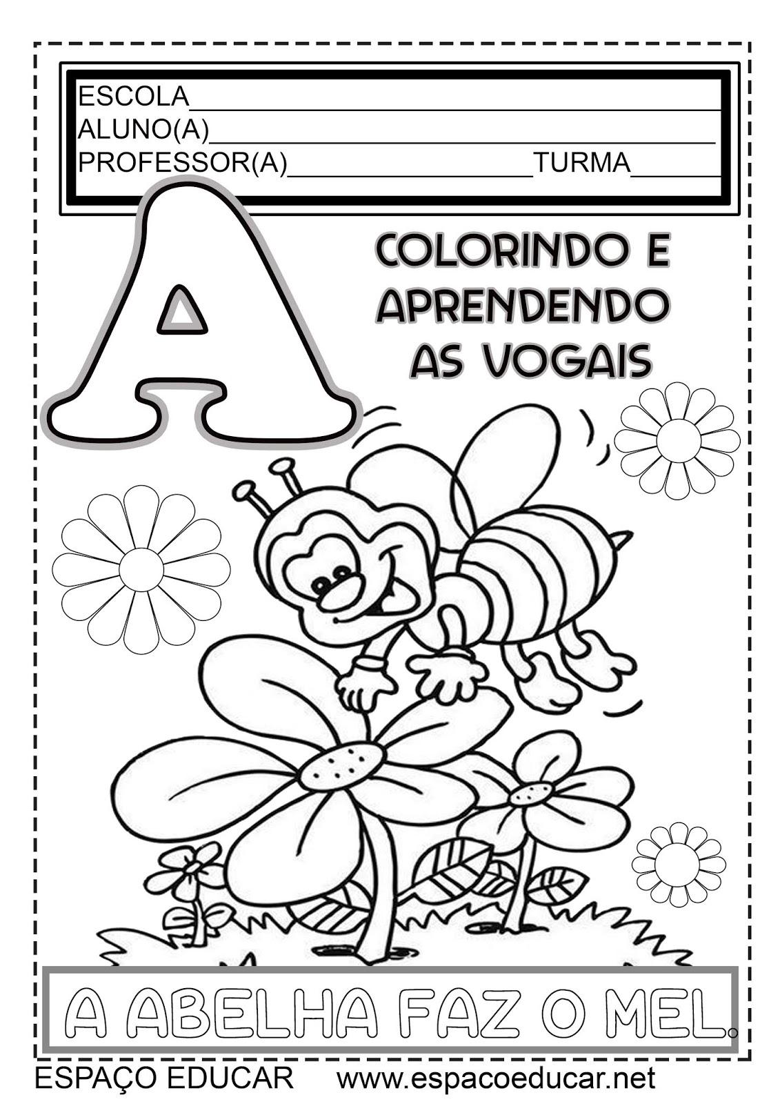 Meu Livro Colorindo E Aprendendo Vogais Gratis Atividades Para