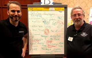 Bob Galen (rechts) und Peter Fischbach in Tampa
