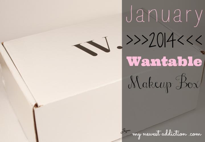 wantable january 2014 makeup subscription box