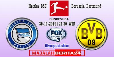 Prediksi Hertha BSC vs Borussia Dortmund — 30 November 2019