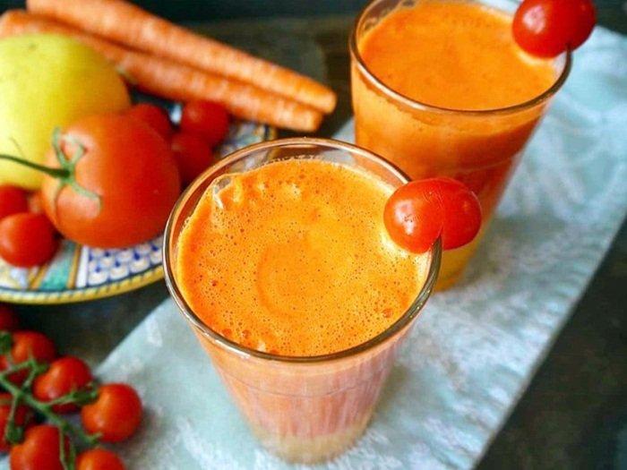 Jus tomat dan wortel mix jeruk untuk diet