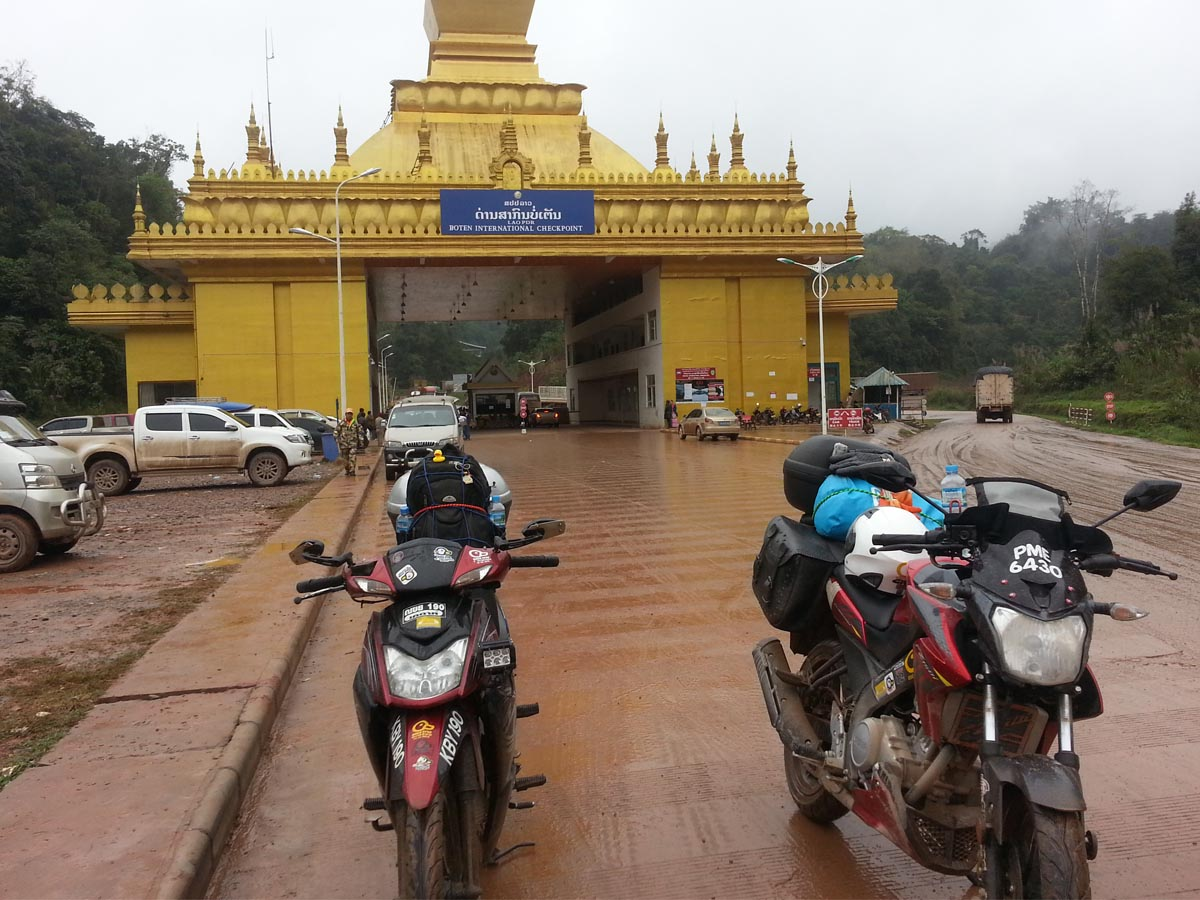 Boten Laos, Batu Puaka Boten, Pintu border Boten