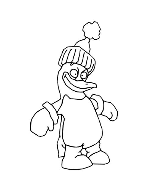 Gambar Mewarnai Pinguin - 7