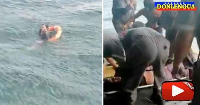 CASI UNA TAGEDIA |4 personas rescatadas tras hundirse su bote en Sucre