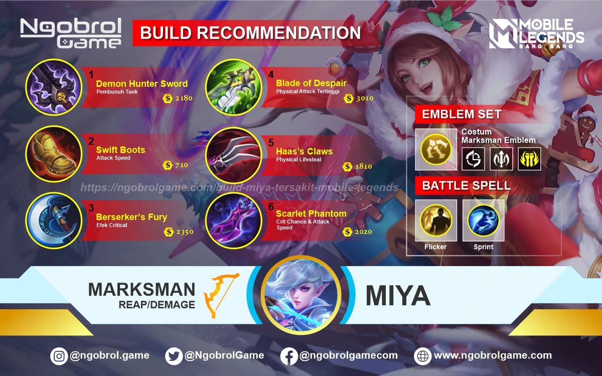 Build Miya Top Global Tersakit Mobile Legends