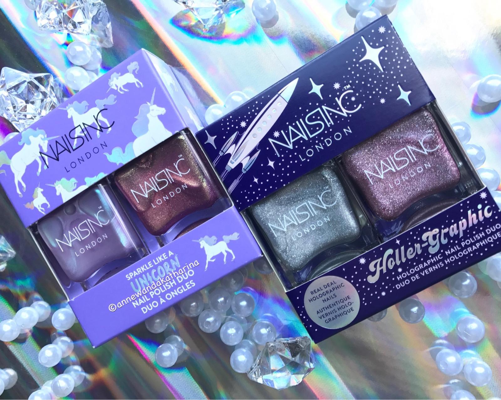 annewandakatharina: NailsInc Sparkle Like A Unicorn & Holler-Graphic Set