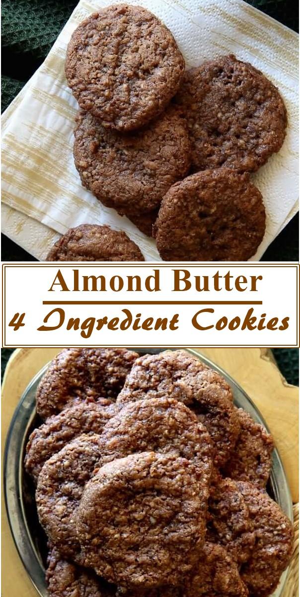 Almond Butter 4 Ingredient Cookies #Cookiesrecipes