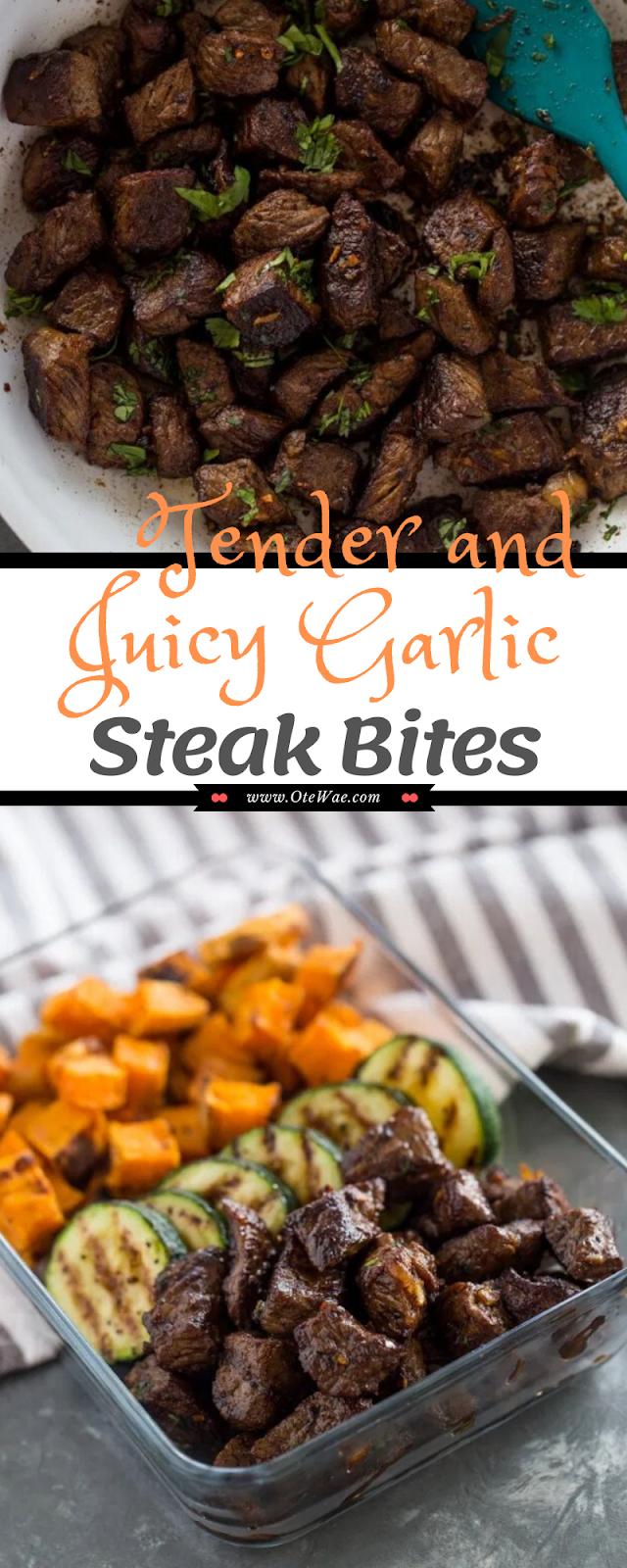 Tender and Juicy Garlic Steak Bites