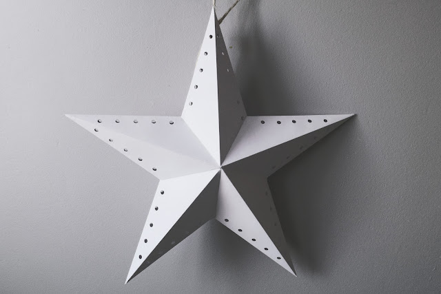 Ozdoby z papieru gwiazda betlejemska