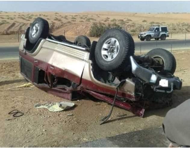 إصابة 4 في انقلاب سيارة بملوي بالمنيا