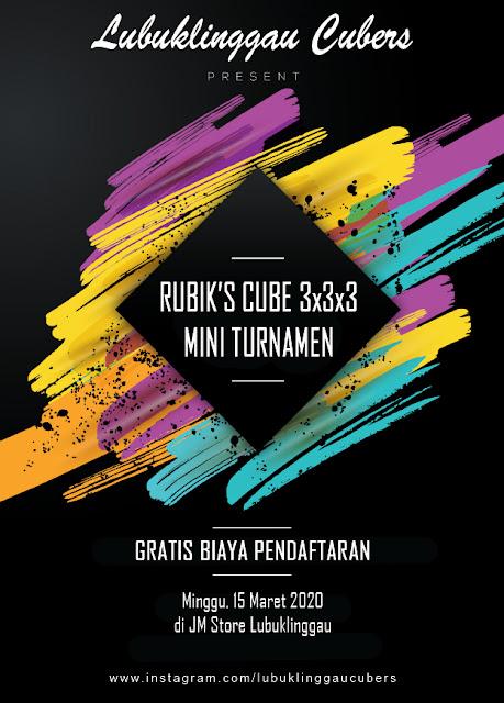 lomba rubik mini turnamen poster