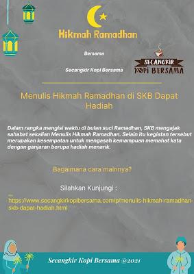 Menulis Hikmah Ramadhan SKB di Dapat Hadiah