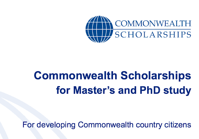 Commonwealth Scholarships (Masters & PhD) in UK for Developing Countries 2018 (FULLY FUNDED)