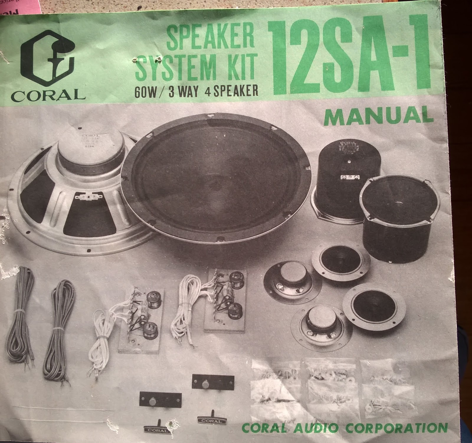 Who wants to be an Audiophile?: Coral 12SA-1 speaker kit user manual