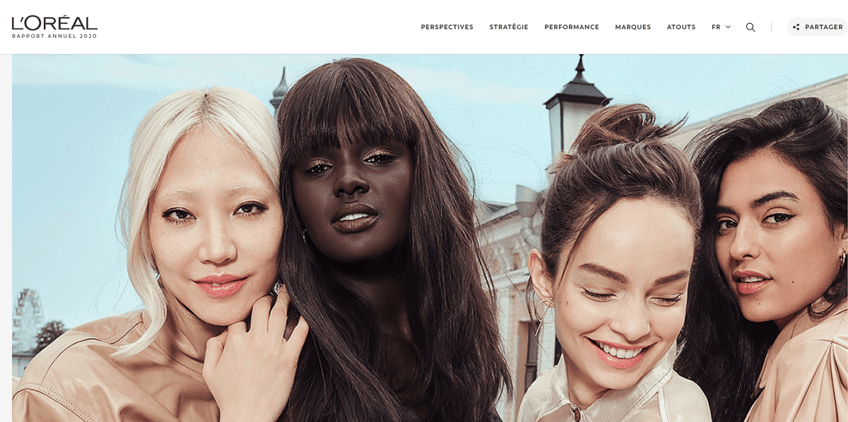 digital annual report example from L'Oreal