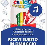 Logo Cartoleria Italiana ti regala un omaggio firmato Carioca: come riceverlo gratis