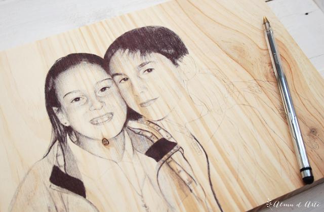 Retratos dibujados a boli bic