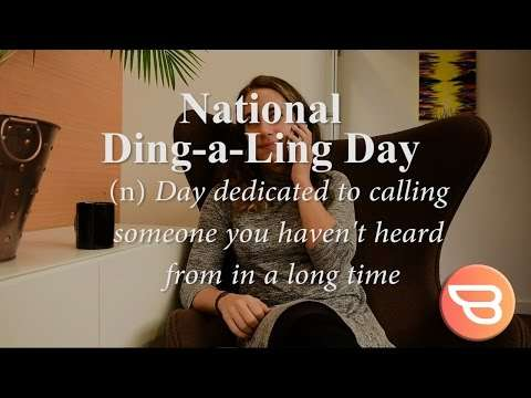 National Ding-A-Ling Day Wishes Beautiful Image