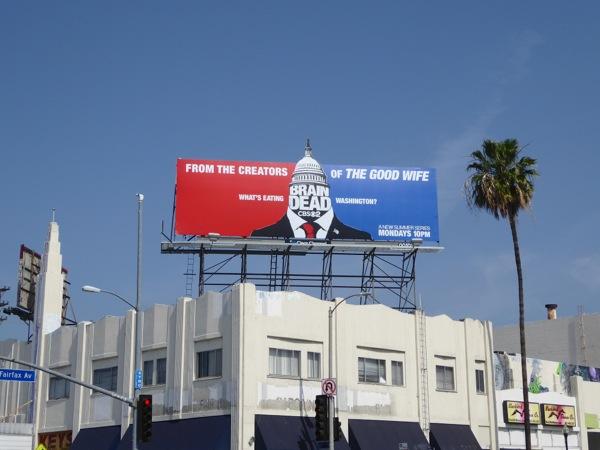 BrainDead series launch billboard