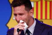 Dengan Emosional, Messi Mengaku Tak Siap Tinggalkan Barcelona
