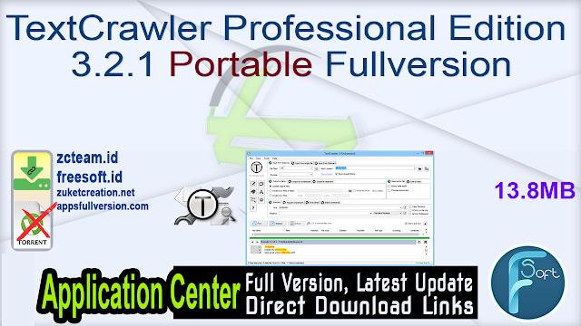 TextCrawler Professional Edition 3.2.1 Portable Fullversion