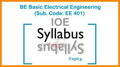Syllabus Of Basic Electrical Engineering | Subject Code: EE 401 ...